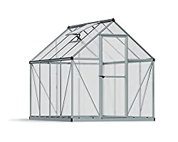 Palram Nature Series Mythos Hobby Greenhouse - 6' x 8' x 7'- Silver