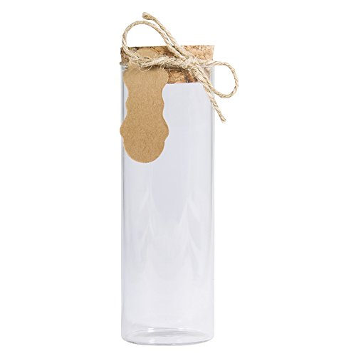 Rayher 46126000 glazen pot met kurk deksel, 4,5 cm ø, 13,5 cm, 150 ml