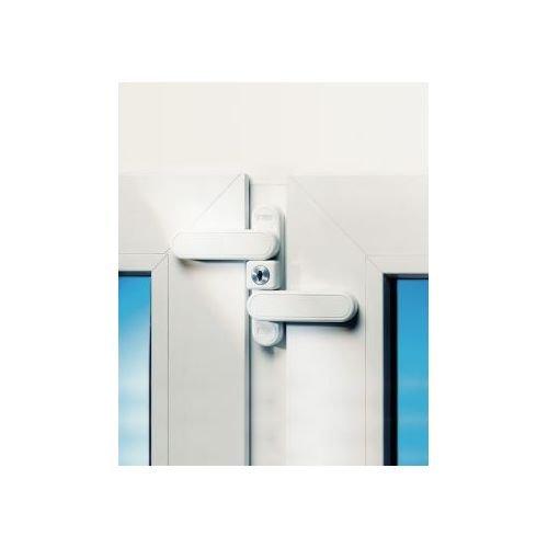BURG-WÄCHTER Fenstersicherung mit Doppelschwenkriegel, Für ein- und zweiflügige Fenster, WD 3 W Z1, Weiß