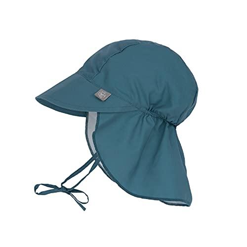 LÄSSIG - UV Kappe mit Nackenschutz für Babys - Marineblau