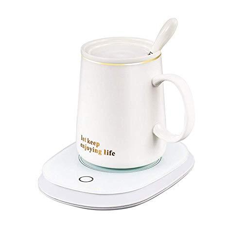 coffee warmer Hogar de escritorio café caliente, más caliente taza de café con apertura automática y sin potencia protección, con la taza, Caja de seguridad for oficina y el hogar del café de aislamie