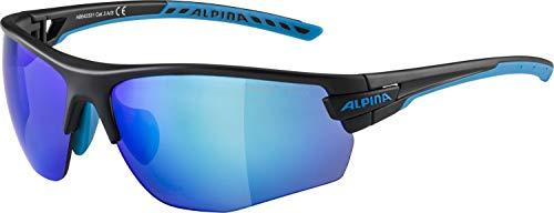 ALPINA Unisex - Erwachsene, TRI-SCRAY 2.0 HR Sportbrille, black-cyan matt, One Size