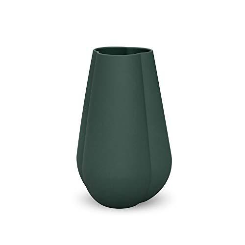 Cooee Design Clover - Vaso in Ceramica, 25 cm, Verde Scuro