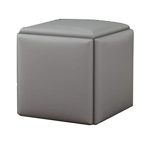 HSY SHOP Taburete de Bar, Juego 5 en 1, taburetes de Bar, Cuero PU, fácil de Desmontar, Taburete pequeño, Cuadrado, para Comedor, Cocina, mostrador, Bar (Color : Gray)