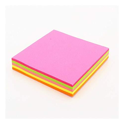 FENCHUN Papel de Notas - 20 Hojas de un Color 76 * 76mm Tamaño Tamaño Memo Pad Sticky Notes Bookmark Point IT Marker Memo Pegatina Oficina Suministros Escolares (Color : 1)