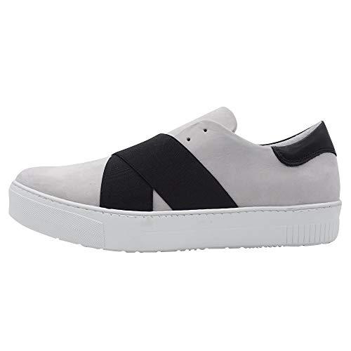 SPM Junin Sneaker Damen Sneaker Slipper Hellgrau Übergrößen, Größe:42