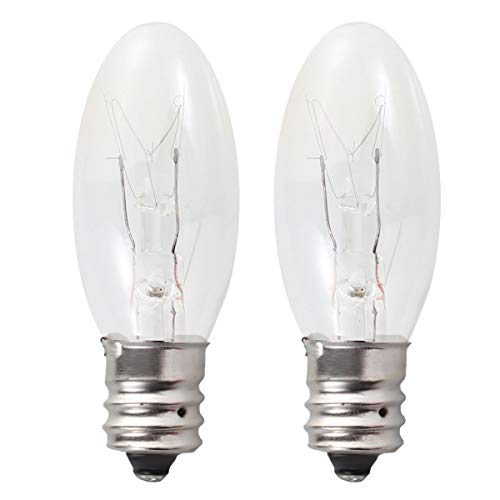 Uonlytech Lampadine a 2 lampade a incandescenza da 15 Watt E12 Lampadine a candelabro a Luce Calda