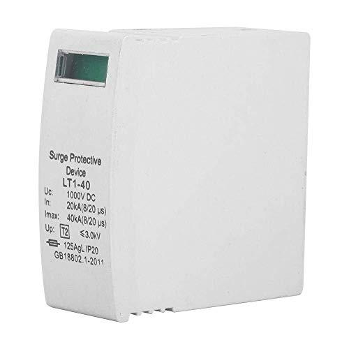 SLZDQNN 2 piezas de protector contra sobretensiones de montaje en carril DIN, 1000VDC Fotovoltaica hogar de protección contra rayos pararrayos del dispositivo, de bajo voltaje del interruptor de prote