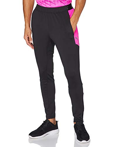 PUMA Herren ftblNXT Pant Jogginghose, Black-Luminous Pink, XXL