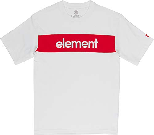 Element Primo Flag CR Short Sleeve T-Shirt Small Off White