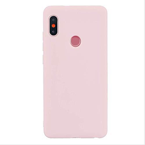 cuzz Funda para Xiaomi Redmi Note 6 Pro+{Protector de Pantalla de Vidrio Templado} Carcasa Silicona Suave Gel Rasguño y Resistente Teléfono Móvil Cover-Rosa Claro