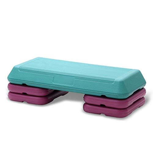 SCAYK Fitness aeróbico Paso 3 Nivel Ajustable Antideslizante Cardio Yoga Pedal Paso a Paso de Entrenamiento Ejercicio Ejercicio Aptitud aeróbico escalón Equipo aeróbic Paso Paso a Paso (Color : Blue)