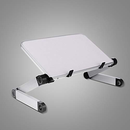ADSIKOOJF Aluminium Laptop Draagbare Opvouwbare Verstelbare Laptop Bureau Computer Tafel Stand Lade Notebook Lap PC Vouwtafel