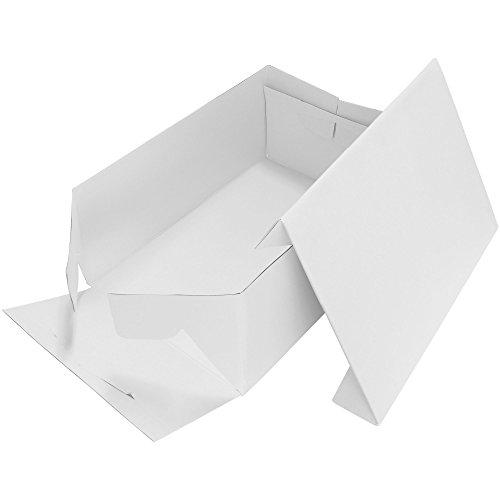 PME CBO902 Boîte à Gâteau Rectangulaire, Plastique, Blanc, 1,5 x 26 x 36 cm