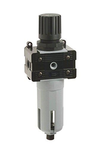 Bamax BX11FR14P drukregelaar 1/4 inch, professioneel, grijs/zwart