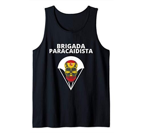 Brigada Paracaidista con Bandera de españa para patriotas Camiseta sin Mangas
