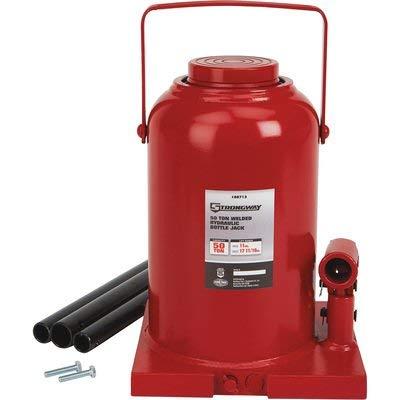 Strongway 50-Ton Hydraulic Bottle Jack with Welded Base