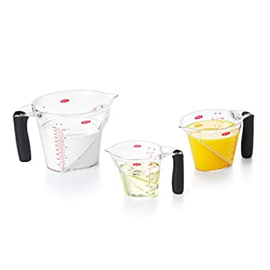OXO 1056988 Good Grips 3-Piece Angled Measuring Cup Set, BLACK