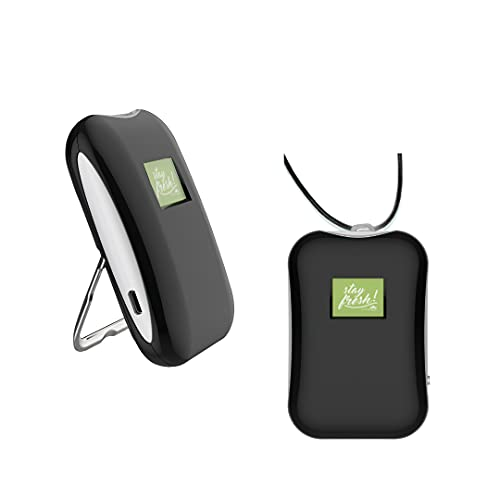Personal air purifier wearable/ionizer necklace/releases negative ions to breathe clean air/portable travel air cleaner/wear around neck/mini air filter