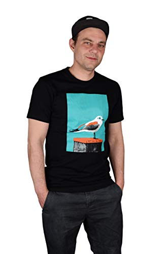 Paint Gull T-Shirt - Black/Columbia Größe: S Farbe: Black/Columbia