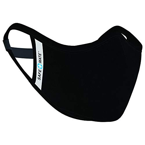 Safe+Mate x Case-Mate - Cloth Face Mask - Washable & Reusable - Adult L/XL - Cotton - with Filter - Black
