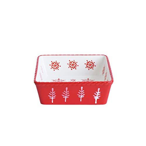 Bol Magnifique Généreux Creative Céramique de Cuisson des ménages Bowl Soup Bowl Nouvel an Noël Rouge fête de Noël Arts de la Table Ustensiles de Cuisine
