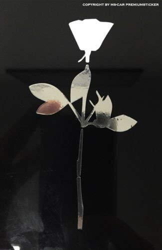 2er Set Rose Bowl Depeche Mode Car Decor Violator DM Sticker Aufkleber Tattoo Folie Chromefolie (chromefolie)