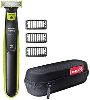 Philips Norelco Trimmer With Bonus Smoocu Hard Case OneBlade Trimmer Shaver Case Travel Storage Carrying Bag for Philips Norelco OneBlade, QP2520/90 QP2520/70 Black