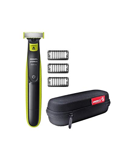 Price comparison product image Philips Norelco Trimmer With Bonus Smoocu Hard Case OneBlade Trimmer Shaver Case Travel Storage Carrying Bag for Philips Norelco OneBlade,  QP2520 / 90 QP2520 / 70 Black