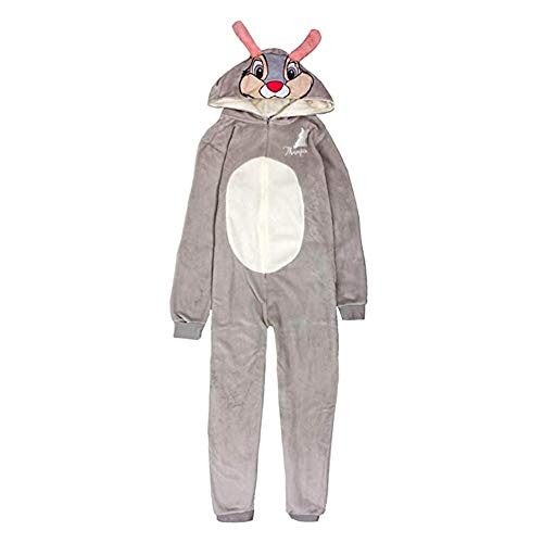 Disney Bambi Damen Kostüm Pyjama Ganzkörper-Pyjama Gr. 46, grau