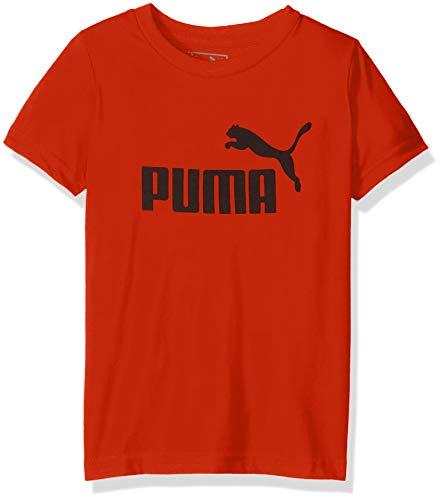 PUMA Boys' Little 1 Logo Tee, Red, M