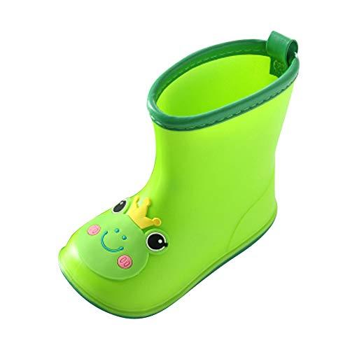 WEXCV Unisex Baby Jungen Mädchen Gummistiefel Kinder Einfarbig Cartoon Tier Schuhe Kinderschuh rutschfest Wasserdicht Schuhe Regenstiefel