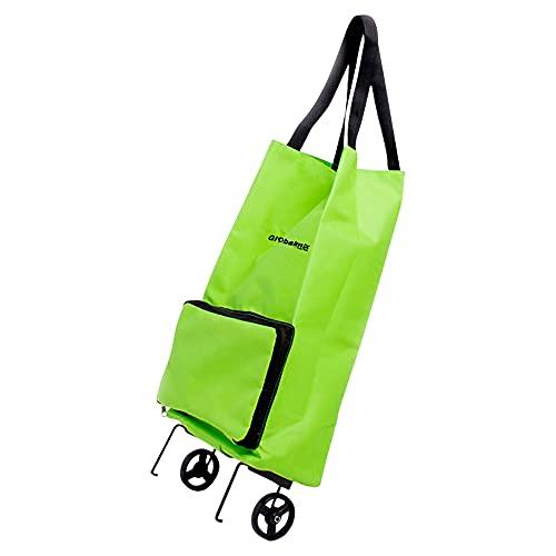 Sacola para Compras Dobrável Carrinho com Rodas Shopbag Globalmix GT083