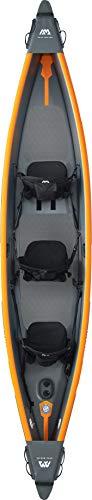 """Kajak aufblasbar im Set für 3 Personen TOMAHAWK AIR-C 15'8"""" Paddelboot Kanu mit Sitzen, Pumpe, Tasche 478 x 88 cm"""