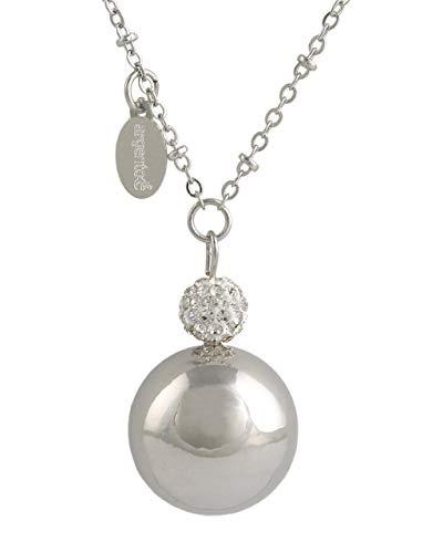 Sleutelhanger, gerhodineerd, met kristallen en strasssteentjes zilver MOTHER CARE met ketting cm.100