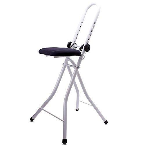 MSV Verstellbare Stehhilfe Sitzhilfe Stehsitz Bügelstuhl Bügelhilfe
