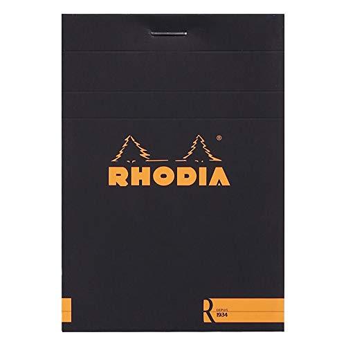 Rhodia 122008C Blocknotes, 90 G, 85 x 120 mm, 70 fogli, Nero, 1 pezzo
