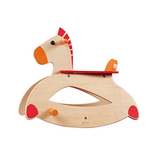 Classic World Wooden Rocking Horsefor Toddlers and Kids,Toddler Wood Ride-on Toys for Indoor & Outdoor Activities, Birthday