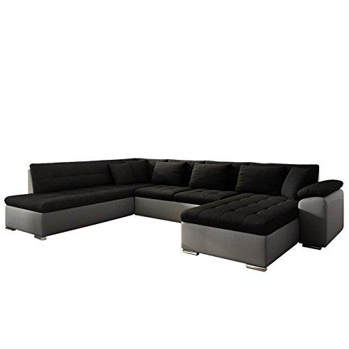Mirjan24 Eckcouch Ecksofa Niko Bis! Design Sofa Couch! mit Schlaffunktion und Bettkasten! U-Sofa Große Farbauswahl! Wohnlandschaft vom Hersteller (Ecksofa Rechts, Soft 029 + Casablanca 2316)