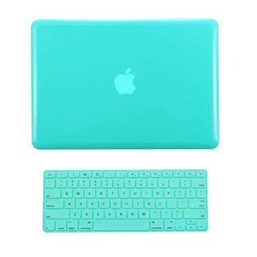 """TOP CASE - 2 in 1 Signature Bundle Crystal See Thru Hard Case and Keyboard Cover Compatible MacBook Pro 15"""" A1398 with Retina Display (Release 2012-2015) - HOT Blue"""