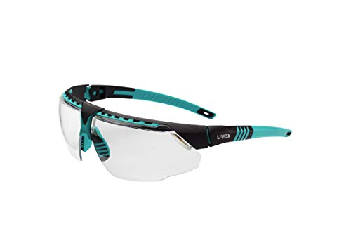 Uvex by Honeywell Avatar Safety Glasses, Teal Frame with Clear Lens & Anti-Scratch Hardcoat (S2880)