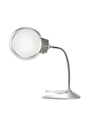 Lupa de lectura de lámpara de mesa, base de plástico, 10 veces iluminación de alta definición, 125 mm para varios propósitos