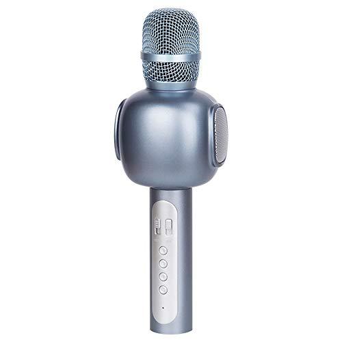 DKee Auricular Inalámbrico Bluetooth Micrófono K Canción Tesoro De Micrófono Inalámbrico Canto Música 25 * 6cm (Color : Silver)
