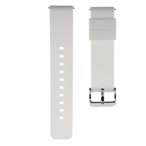 Colcolo Pulsera Reemplazo de Silicona Bandas de Reloj Banda de Reloj Banda de Reloj de 22 Mm - Blanco