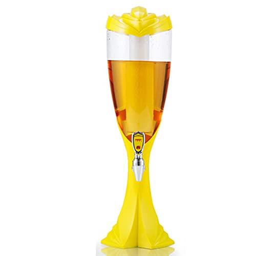 LJH Dispensador De Bebidas De Cerveza, 2l con Grifo, Barril De Cerveza, Tubo De Hielo Independiente, Accesorios De Barra De Regalo para Fiestas Familiares