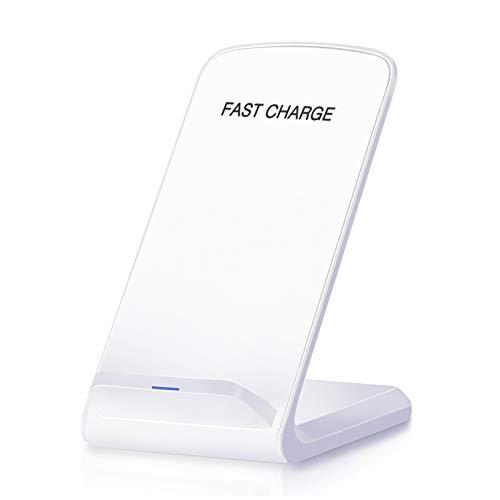 Cargador inalámbrico rápido con certificación Qi, Soporte de Carga rápida de 10 W Trabajo para iPhone XS MAX/XR/XS/X / 8/8 Plus Samsung Galaxy S9 / S9 y más (sin Adaptador de CA)