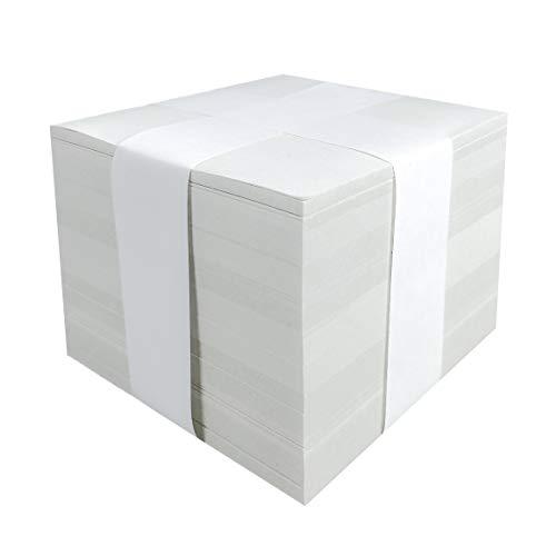 Notizzettel Zettelbox Nachfüllset Recyclingpapier | 10 x 10 cm | unbedruckt lose (1000 Blatt)