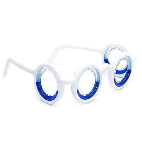 ZYBB Brille Gegen Seekrankheit Brille Gegen Seekrankheit Smart Seasick Airsick Flüssige Anti-Sport-Brille Ultraleichte, Faltbare, Tragbare Brille Zur Verringerung Der Ermüdung Der Augen 2PCS/ Weiß