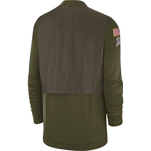NFL Dallas Cowboys Mens STS Elite Hybrid Jacket, Olive, Medium