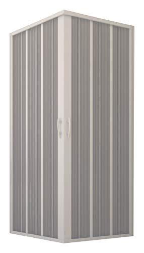 Nueva cabina de ducha flexible, fuelle angular, 80 x 120 x 185 h. reducible